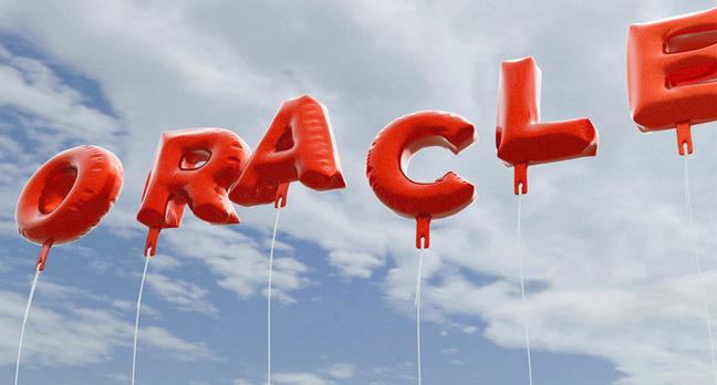 Oracle balloons photo via Shutterstock