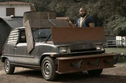 BA Baracus modifies a car in The A-Team: The Original Series - copyright NBc