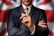 Union Jack and suit photo via Shutterstock