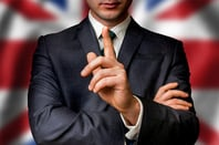 Union Jack and suit photo via Shutterstock