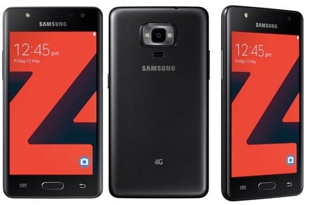The Samsung Z4, running Tizen 3.0