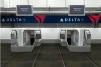 Delta automated bag drop machines