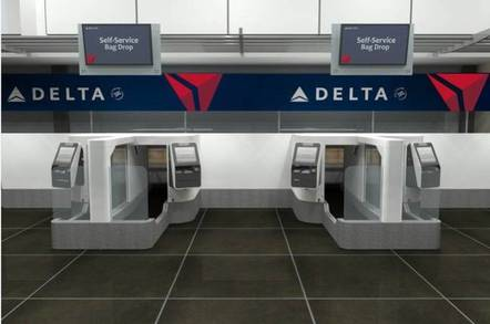 Delta automated bag drop machines