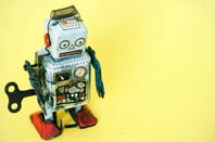 Sad robot photo via Shutterstock