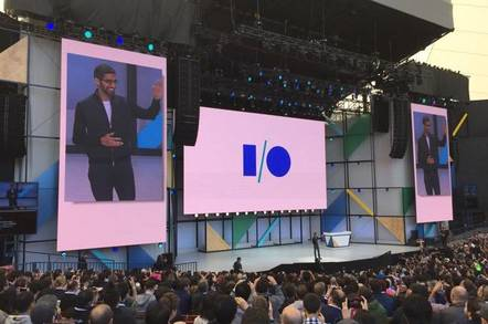 Sundar Pichai at Google I/O 2017