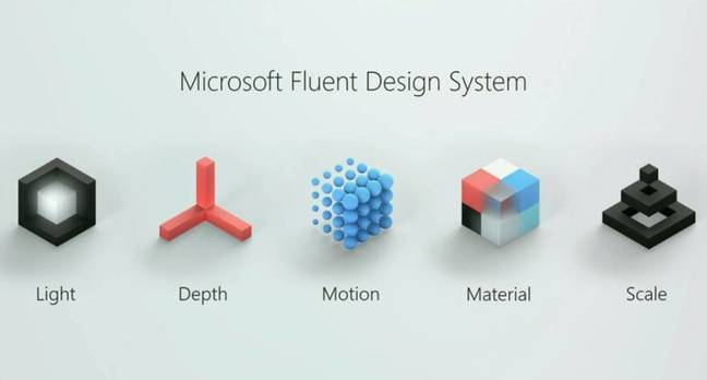 Microsoft's Fluent Design System, announced at Build