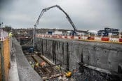 Hinkley C concrete pour, photo courtesy EDF Energy