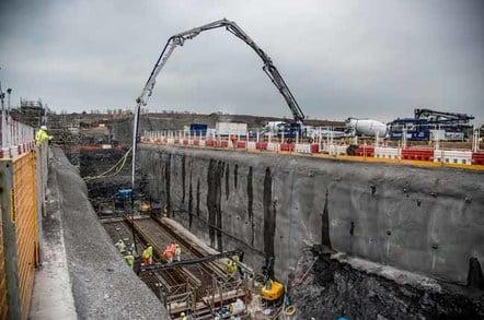 Hinkley C concrete pour, photo courtesy EDF Energy