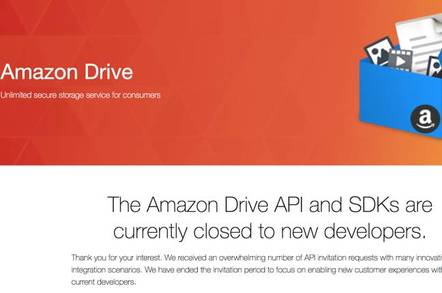 Amazon Drive webpage