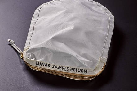 Neil Armstrong's lunar sample bag