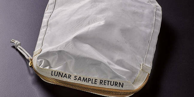 Neil Armstrong's lunar sample bag
