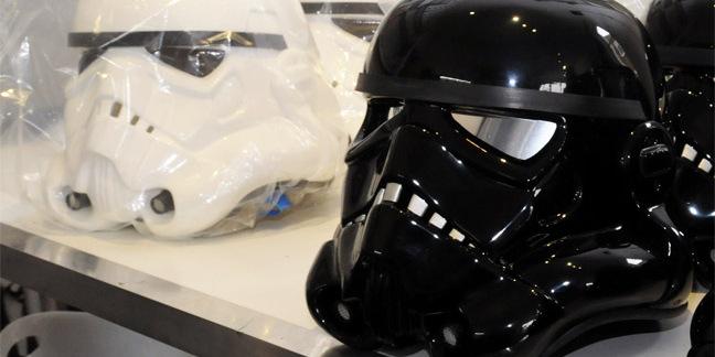Ainsworth stormtrooper helmets photo by Gavin Carke