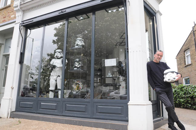 Andrew Ainsworth outside Shepperton Design Studios photo Gavin Clarke