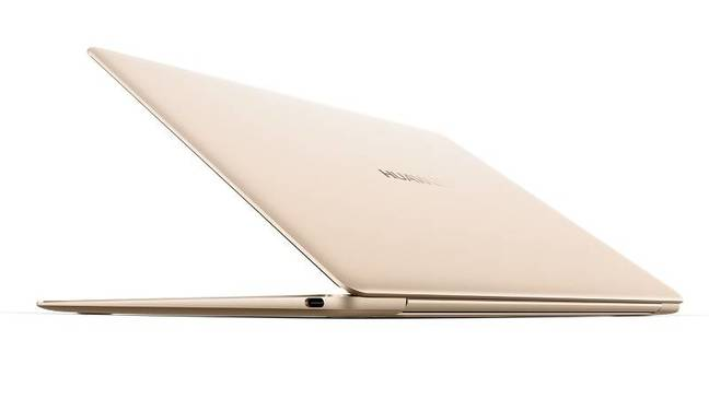 The slim side view of the Matebook X