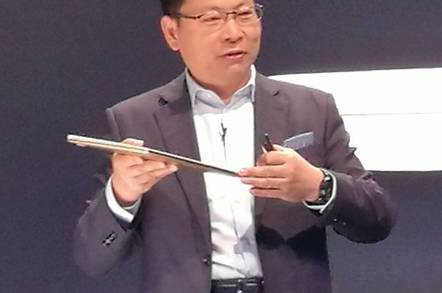 Huawei's Richard Yu shows off the MateBook X