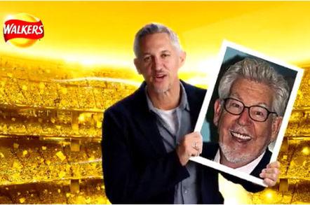 Gary Lineker and Rolf Harris. #walkerswave