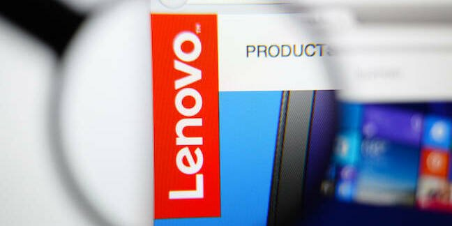 Lenovo web page editorial use only