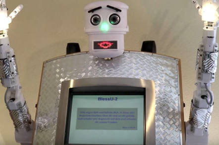 The robot priest in Germany
