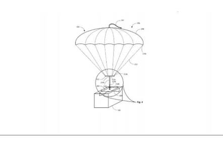 Package parachute illustration