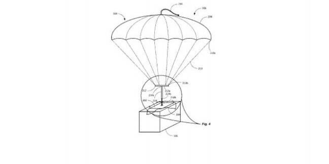 Package parachute illustration