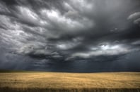 Storm clouds photo via Shutterstock