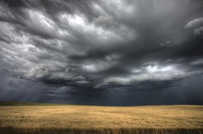 Storm clouds photo via Shutterstock