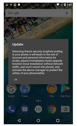 Pop-up Android adware uses social engineering to resist