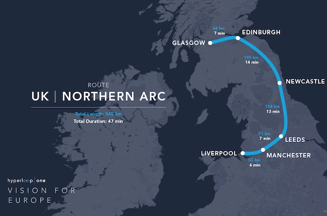 Hyperloop One teases idea of 50minute LondonEdinburgh ride The