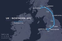 Hyperloop One's proposed Northern UK arc