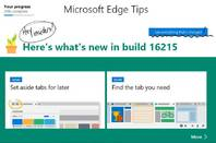 The latest Windows 10 preview has an improved Edge browser