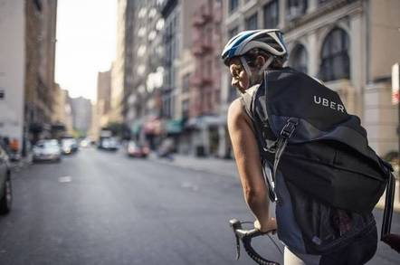 Uber delivery person