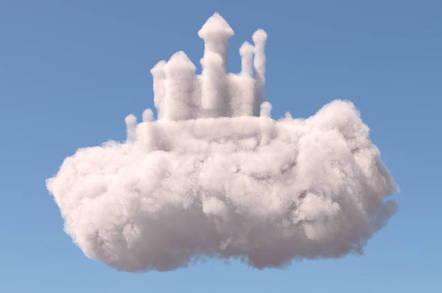 Magic cloud castle