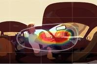 Google's sample heat map for VR videos