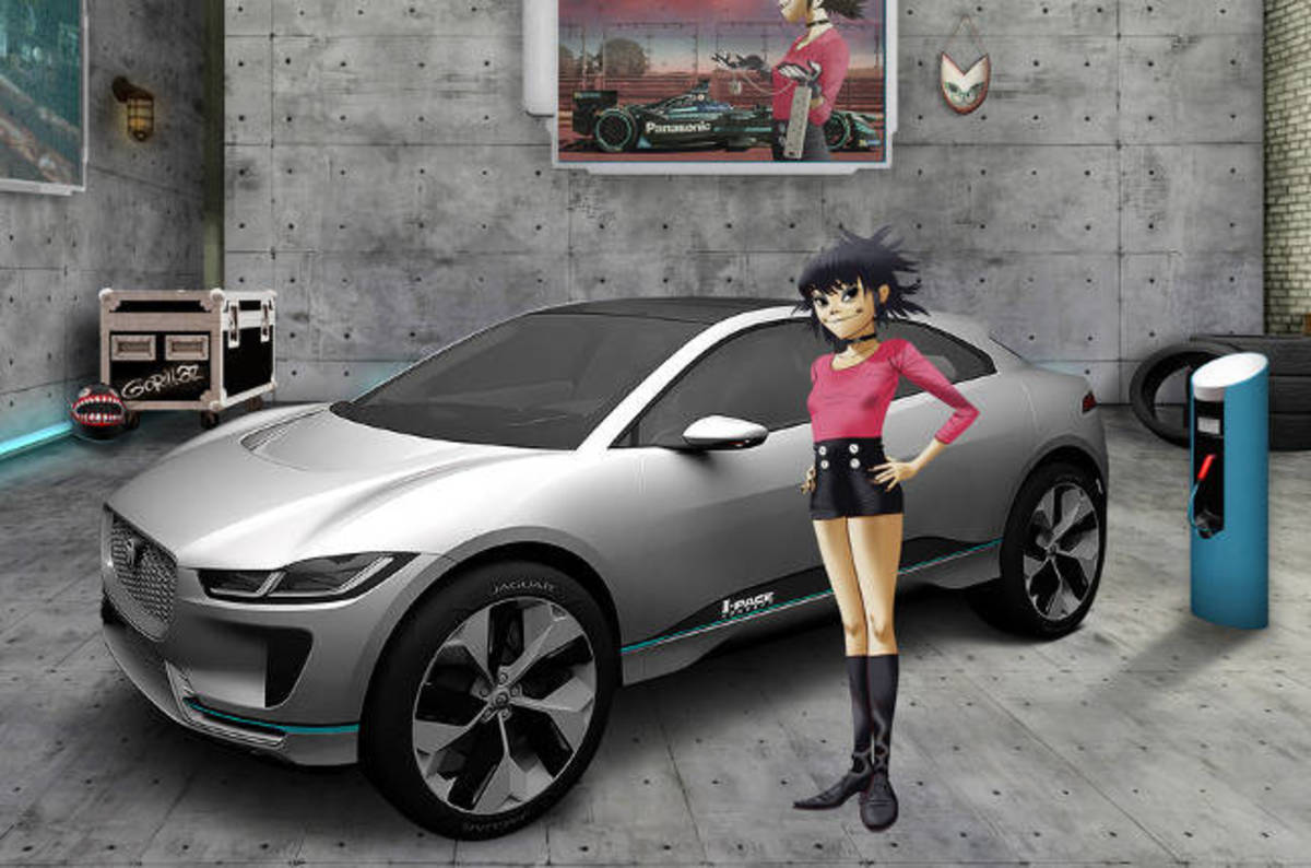 photo image Jaguar Land Rover ropes in Gorillaz to help it lure 5,000 'electronic wizards'