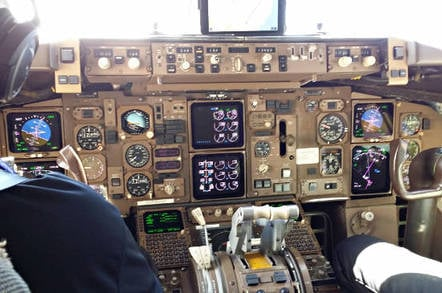 The mostly original flight deck of N757WA