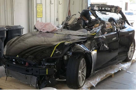 Joshua Brown's crashed Tesla Model S