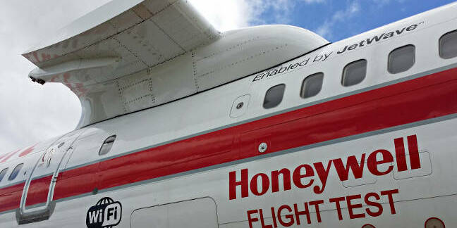 Honeywell's R&D Boeing 757, N757HW, showing detail of the testbed pylon
