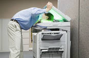 man photocopies own head, pic by shutterstock