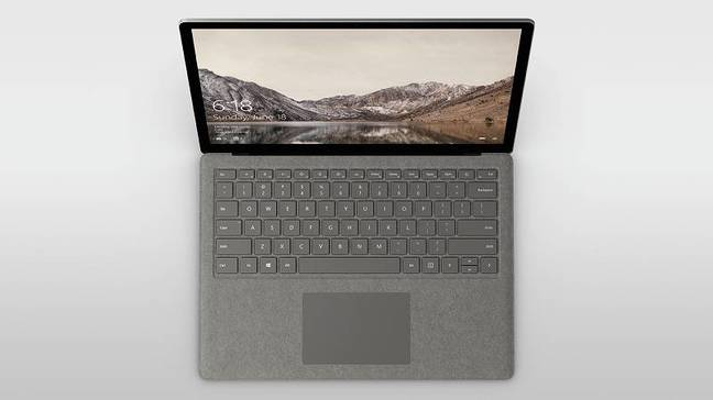 Microsoft's Surface Laptop, running Windows 10 S
