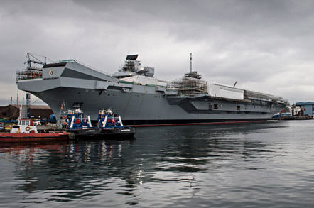 HMS Queen Elizabeth at Rosyth. pic: Andrew Linnett/Crown copyright