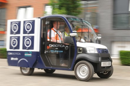 Ocado Oxbotica driving blurred 1 photo by Gavin Clarke