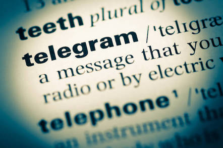 Telegram from dictionary