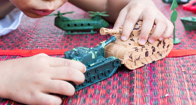 Toy tanks photo via Shutterstock