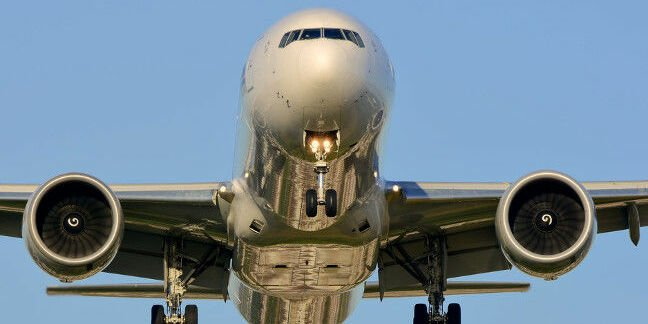 A Boeing 777 airliner on landing. Pic: Shutterstock