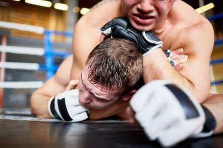 Wrestlers photo via Shutterstock