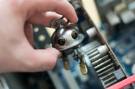 Tiny robot photo via Shutterstock