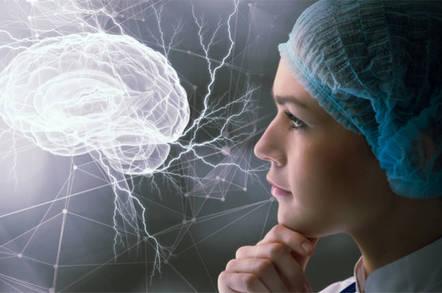 Doctor examines virtual brain