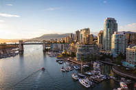The Vancouver, CA skyline