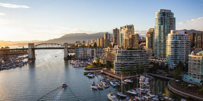 The Vancouver, CA skyline