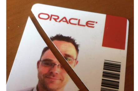 Bernd's Oracle employee badge